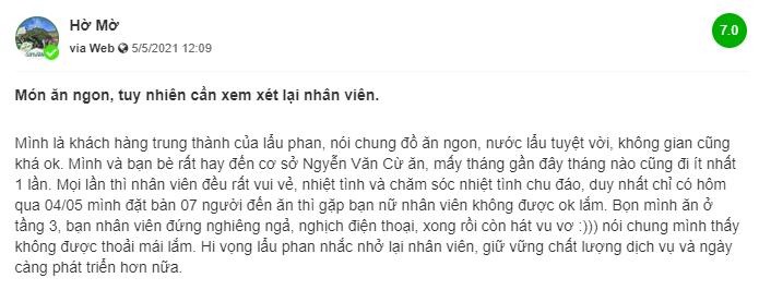 Review lau Phan Nguyen Van Cu